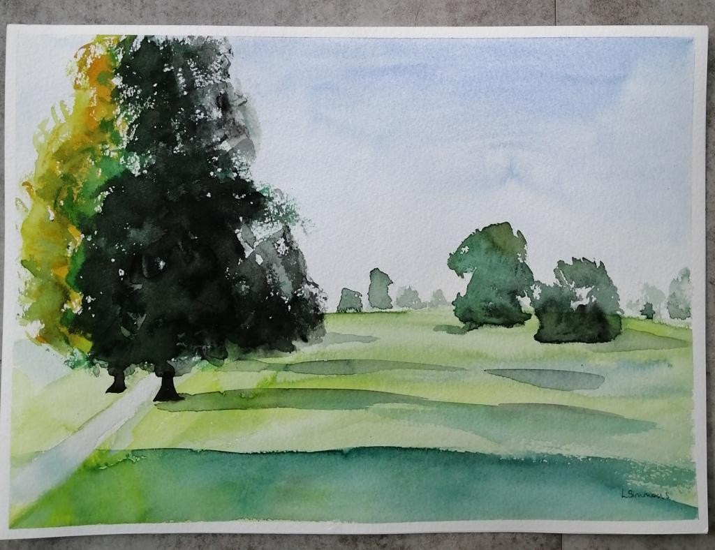 'Morning Walk in Abbey Fields'