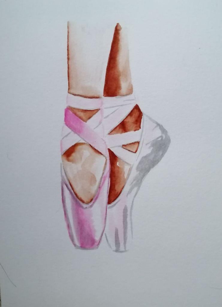 'En Pointe'  Watercolour