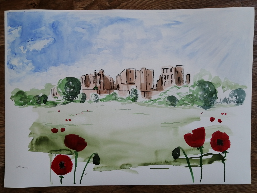 'Poppies at Kenilworth Castle'