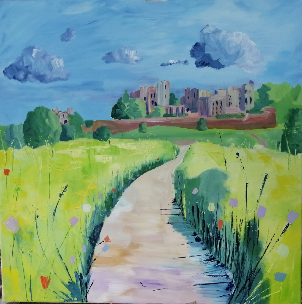 'Yellow Meadows at Kenilworth Castle'