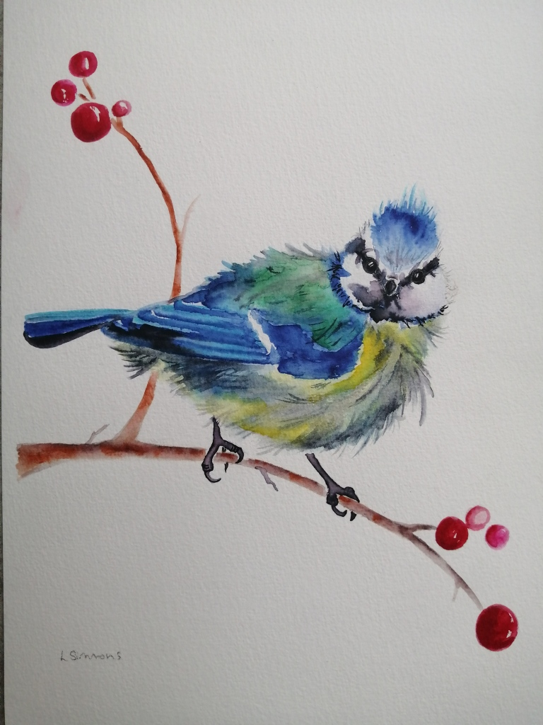 'Blue Tit in The Berries'